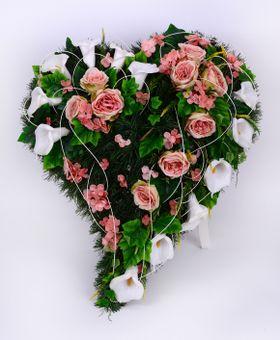 Ružovo biele srdce