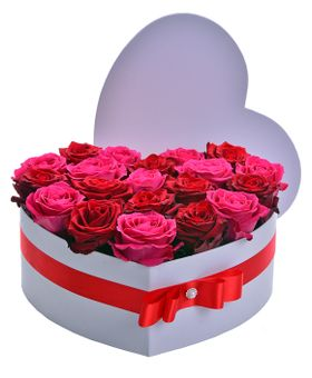 Flower box červený mix