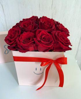 Flower kocka červených ruží