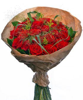 Romantická kytica červených ruží